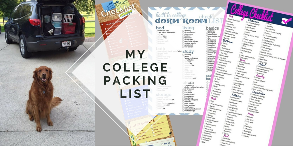 MY College Packing List