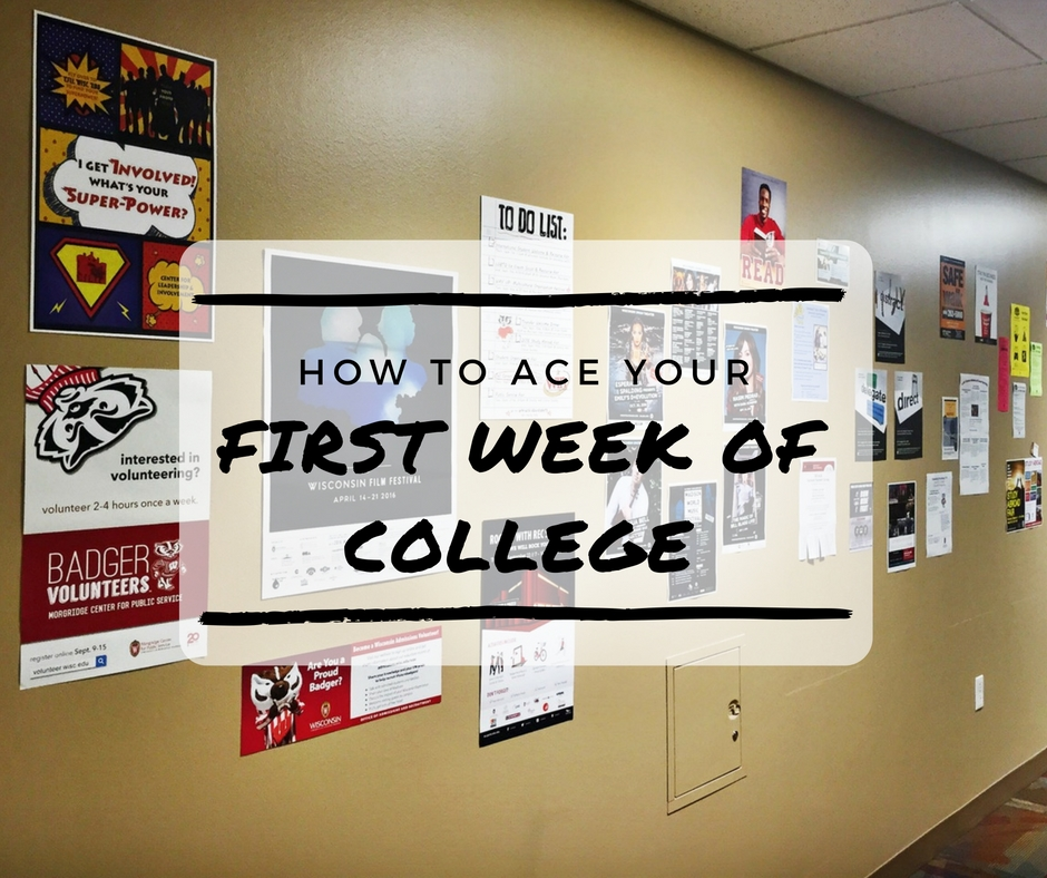 How to Ace Your First Week of College