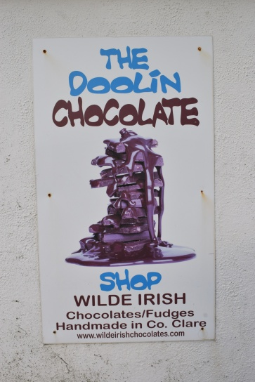 The tiny chocolate shop next door to the pub we ate at in Doolin.