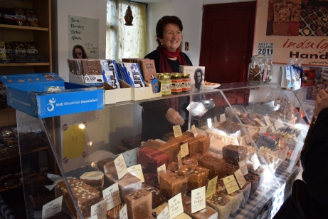 The cutest lady ran the little chocolate shop and was so happy to see us and have customers as many of the business in small cities like Doolin usually shut down in the winter because of a lack of customers.